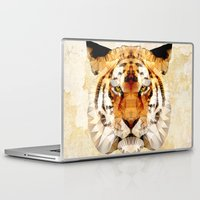 marley Laptop & iPad Skins featuring abstract tiger by Ancello
