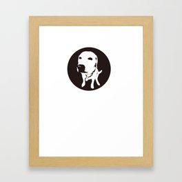 guilty labrador Framed Art Print