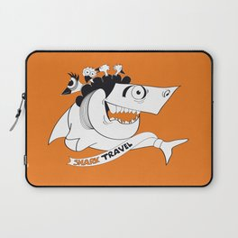 happy travel shark Laptop Sleeve