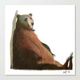 sitting bear Canvas Print