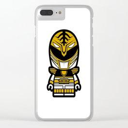 Power Chibi White Ranger Clear iPhone Case
