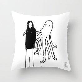 Octopus Hug Throw Pillow