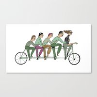 cycling Canvas Prints featuring cycling by Judit Canela