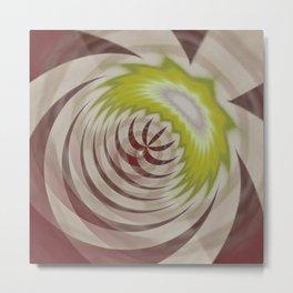 Basal Stripe Twirl Metal Print
