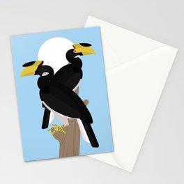 Malabar pied hornbills Stationery Cards