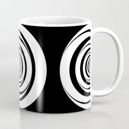 Black White Circles Optical Illusion Coffee Mug