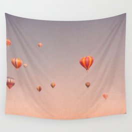 vintage hot air balloons in rio Wall Tapestry