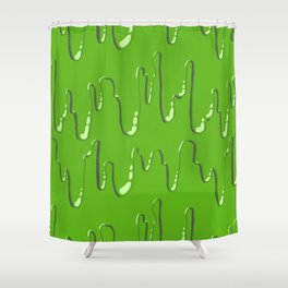 Come on and Slime! (Green) Shower Curtain