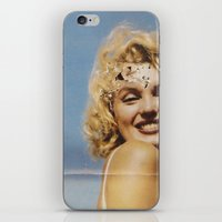 marylin monroe iPhone & iPod Skins featuring Marylin 1 by j.levent