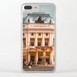 Bratislava National Theater Clear iPhone Case