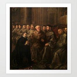 HERRERA EL VIEJO, FRANCISCO DE Sevilla, 1590 - Madrid, 1654 Saint Bonaventure receiving the Habit fr Art Print