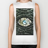 evil eye Biker Tanks featuring Evil Eye by Lilly Guastella