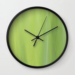 Green Abstract Wall Clock
