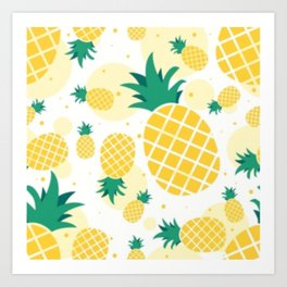 Pineapple Sunshine Art Print