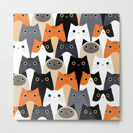 I Love Cats Bunch of Sweet Kitties Metal Print