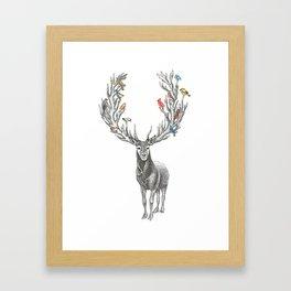 Winter Solstice Caribou Framed Art Print