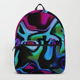 Fluorescent graffiti wall Backpack