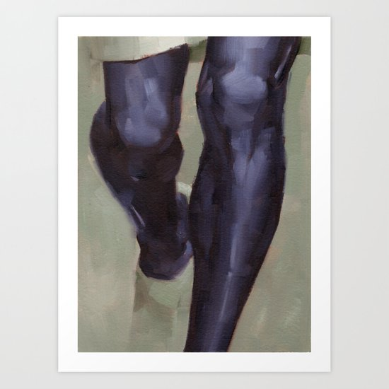 Knees Art Print