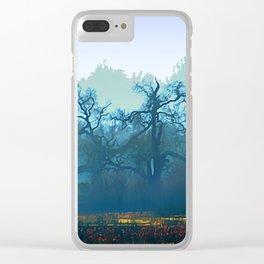 Skragley Oak Trees in the Laguna de Santa Rosa, Sonoma County, California Clear iPhone Case