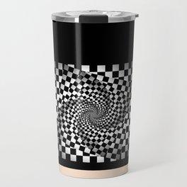 Chess pattern long Travel Mug