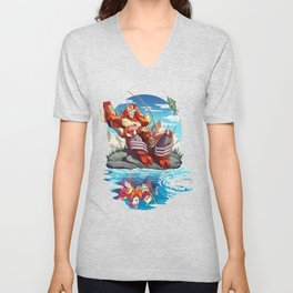 Fish are Jumping Today Unisex V-Neck