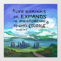 courage Canvas Prints featuring Courage by siminiblocker