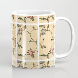 Vintage Floral Wallpaper Design Coffee Mug