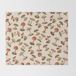 Magical Mushrooms Throw Blanket