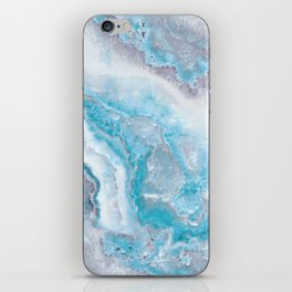 Ocean Foam Mermaid Marble iPhone Skin
