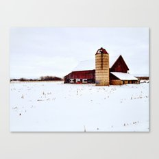 Graffiti Barn Canvas Print