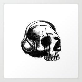 Skull DJ Art Print