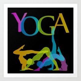 Yoga addicts Art Print
