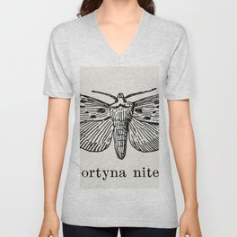 Gortyna nitela from Moths and butterflies of the United States (1900) by Sherman F Denton (1856-1937 Unisex V-Neck