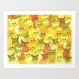 Yellowstone Whimsical Cats Art Print