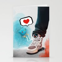 sneaker Stationery Cards featuring sneaker Love by Dominik Gottherr