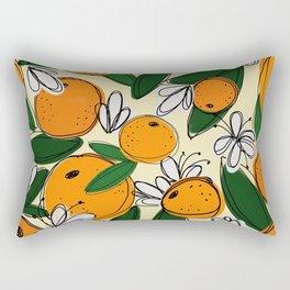 Oranges in Bloom Rectangular Pillow