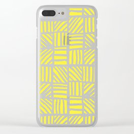 Weave Pattern - Yellow Clear iPhone Case