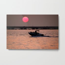 Fire Ball Sunset Metal Print