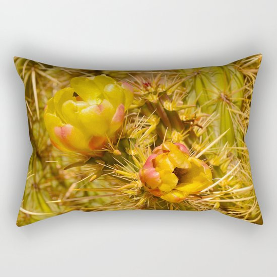 Cacti in Bloom Rectangular Pillow