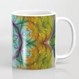Spring Explosion Fractal Flowers Mandala Coffee Mug