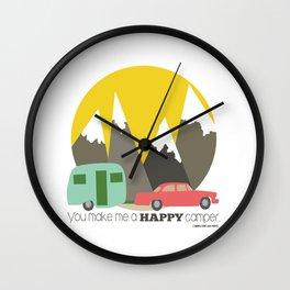 You Make Me a Happy Camper Wall Clock