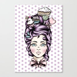 Teacake Lady Canvas Print