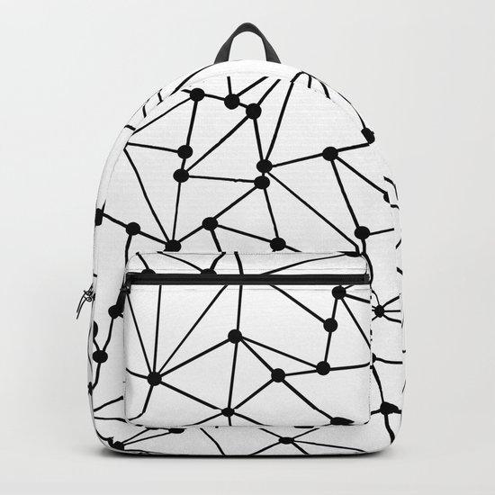 Ab Out Lines With Spots White Backpack