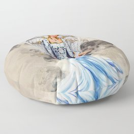 Blue Angel Floor Pillow