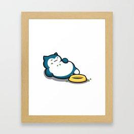 Snorlax Framed Art Print