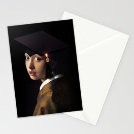 Girl with the Grad Cap Stationery Cards