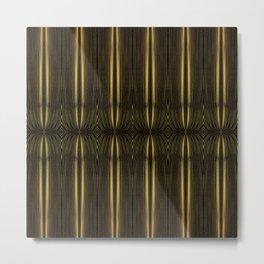 Golden Streamer Mat Metal Print