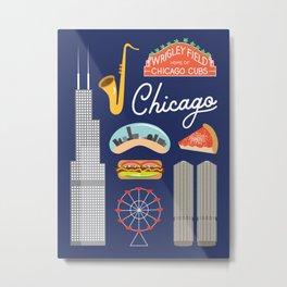Chicago Art Print Metal Print