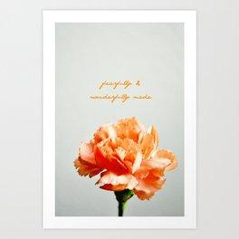 Fearfully & Wonderfully Made Art Print