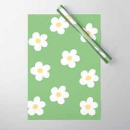 Retro 60's Flower Power Print Wrapping Paper